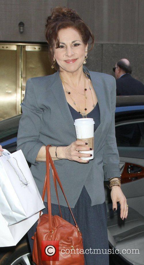 Celebrities arrive at the studio to appear on,...