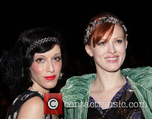 Sarah Sophie Flicker and Karen Elson