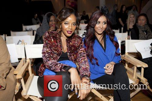 Angela Simmon and Nicole 'Snooki' Polizzi Mercedes-Benz Fashion...