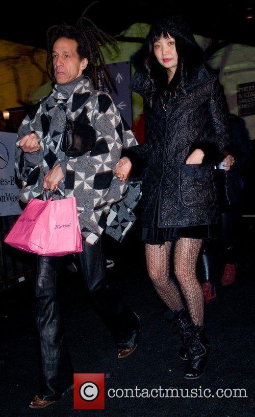 Irina Shabaeva and Guest Mercedes-Benz Fashion Week Fall...