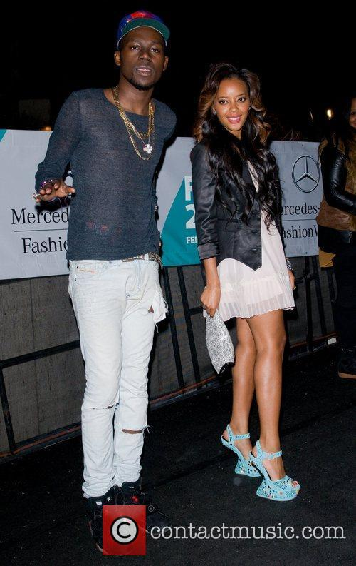 Theophilus London and Angela Simmons  Mercedes-Benz Fashion...