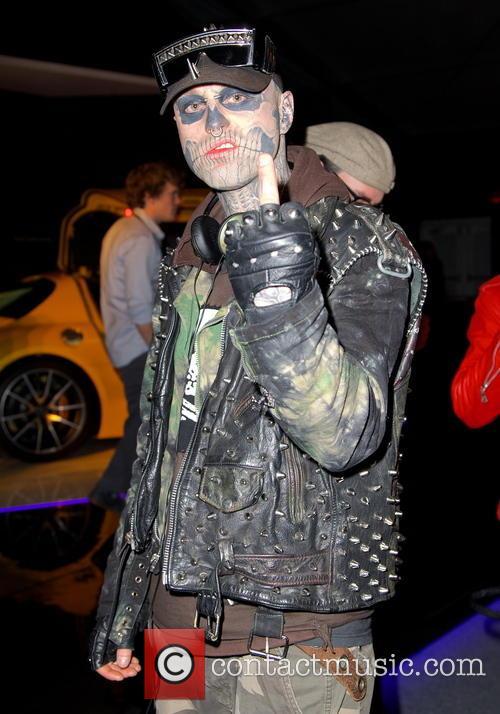 Rick Genest at New York Fashion Week