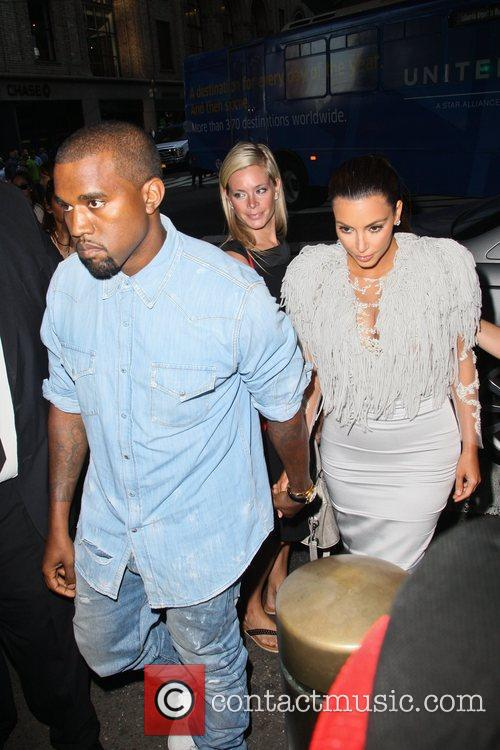 Kanye West and Kim Kardashian Mercedes-Benz New York Fashion Week Spring/Summer 2013