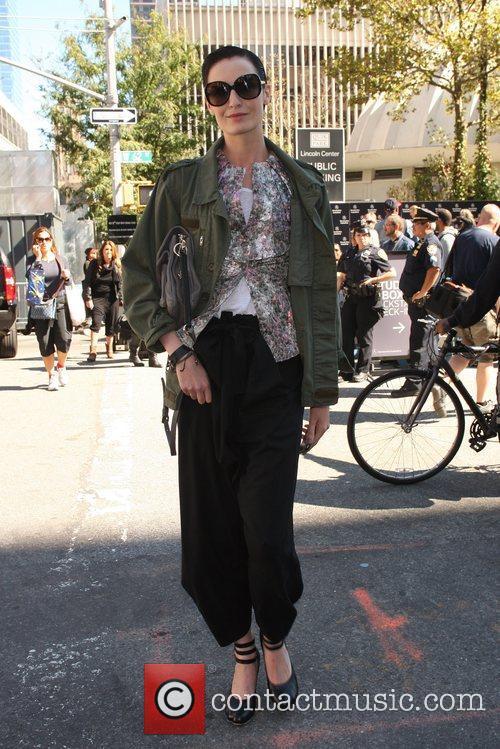 Model Erin O'Connor Mercedes-Benz New York Fashion Week...