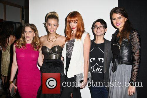 Anna Chlumsky, Christian Serratos and Christian Siriano 2