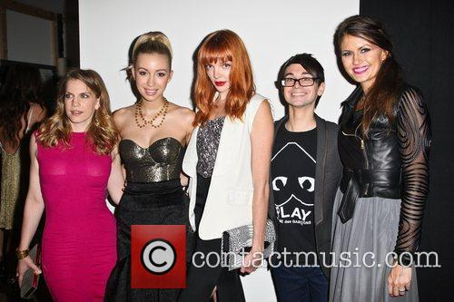 Anna Chlumsky, Christian Serratos and Christian Siriano 3