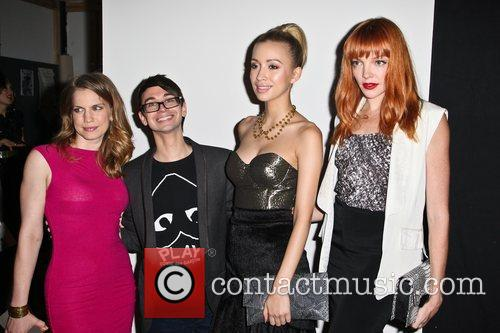 Anna Chlumsky, Christian Serratos and Christian Siriano 4