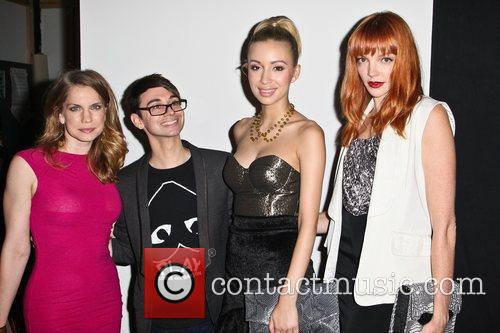 Anna Chlumsky, Christian Serratos and Christian Siriano 5