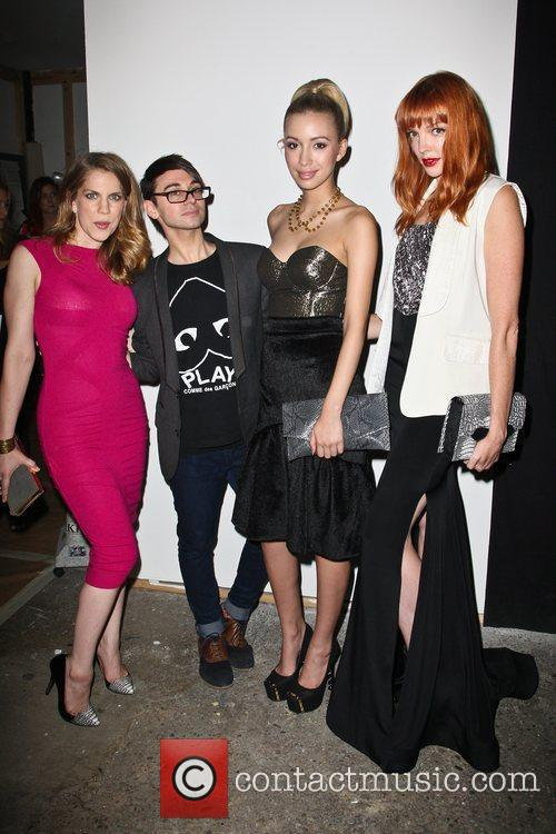 Anna Chlumsky, Christian Serratos and Christian Siriano 6
