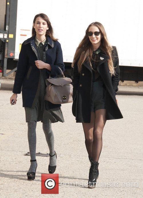 Alexa Chung and Friend  Mercedes-Benz Fashion Week...