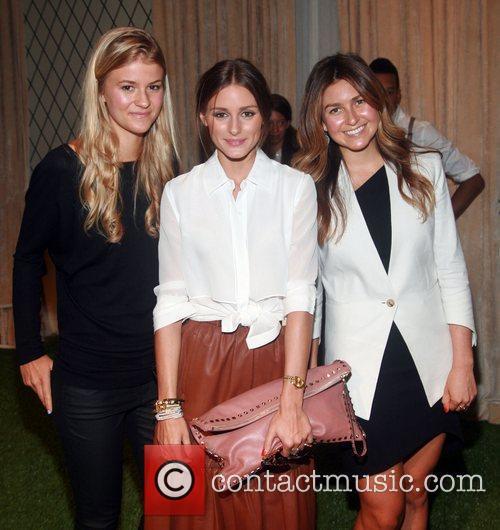 Lauren Smyczek, Olivia Palermo and Amanda Greeley Mercedes-Benz...