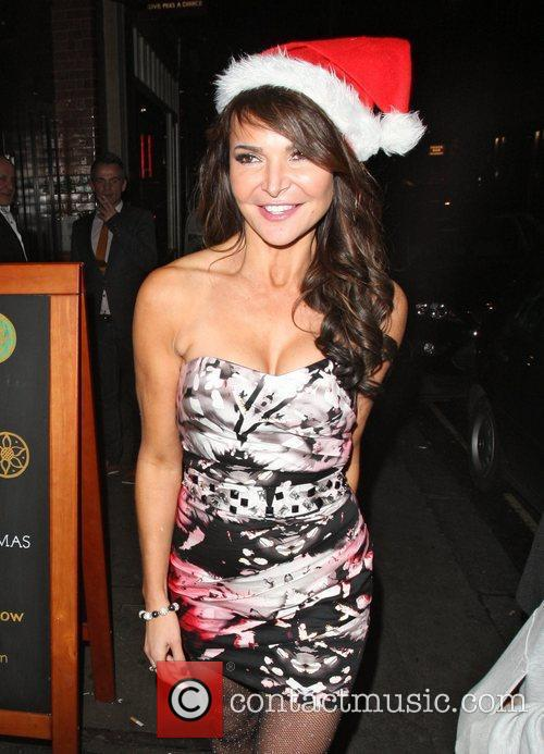 Lizzie Cundy,  at the OK! Magazine Christmas...