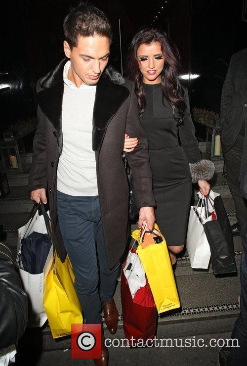 Mario Falcone and Lucy Mecklenburgh,  at the...