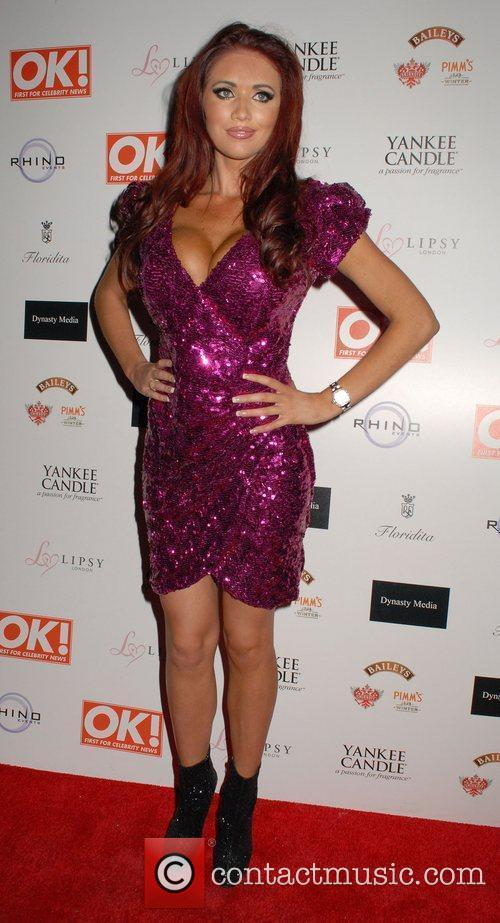 Amy Childs OK! Magazine Christmas Party - Arrivals...