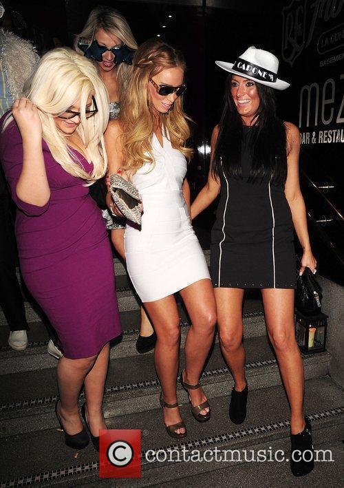 Lauren Pope at the OK! Magazine Christmas party...