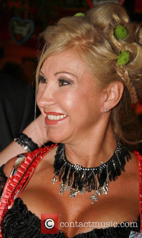 Carmen Geiss attends the Oktoberfest beer festival at...