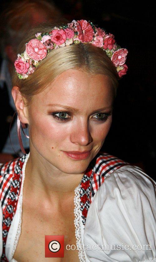 Franziska Knuppe attends the Oktoberfest beer festival at...