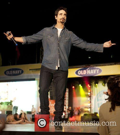 Backstreet Boys Performing At Old Navy Rockstar Fashion Show At