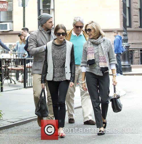 Olivia Palermo and Johannes Huebl are seen having...