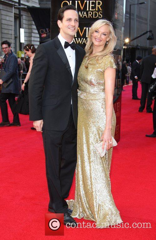 Katherine Kingsley and guest The Olivier Awards 2012...