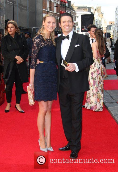 Tom Chambers and wife Clare Chambers The Olivier...