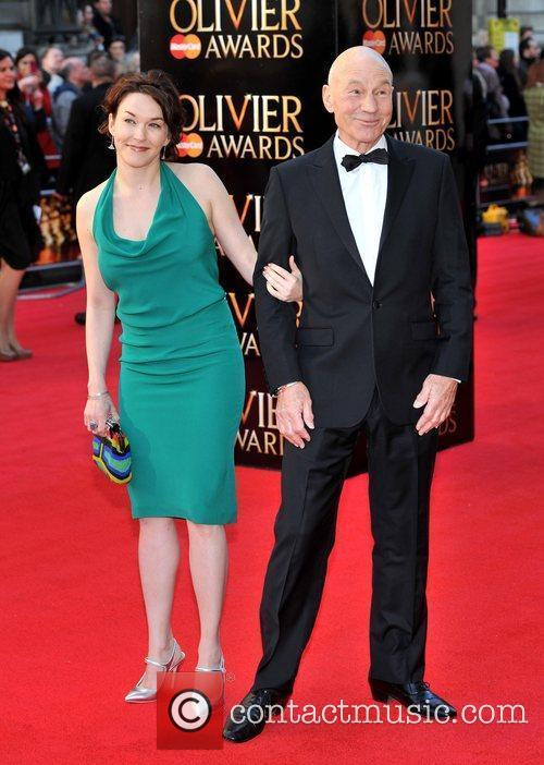Sir Patrick Stewart and guest The Olivier Awards...