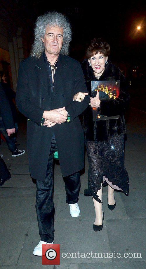 Bryan May and Anita Dobson The Olivier Awards...