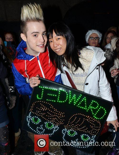edward grimes of jedward with fan sherry 5970959