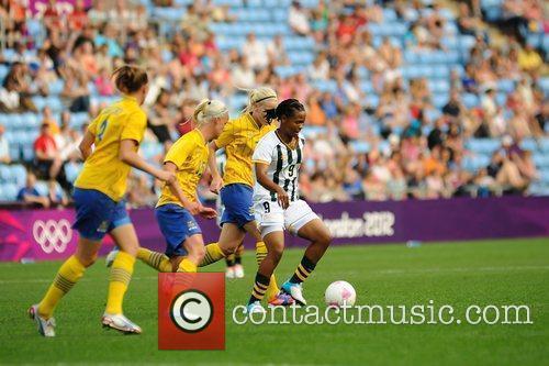 Amanda Dlamini and Caroline Seger Women's Football first...