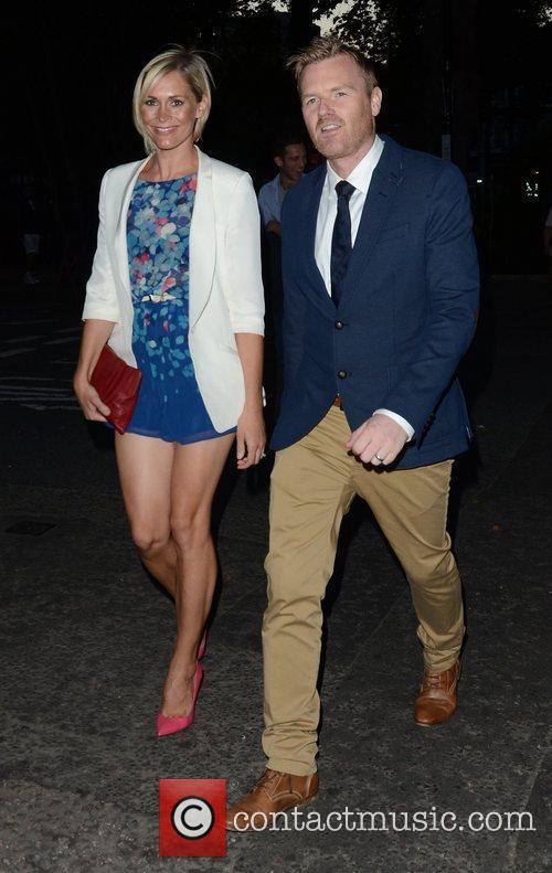 Jenni Falconer and James Midgley attending the private...