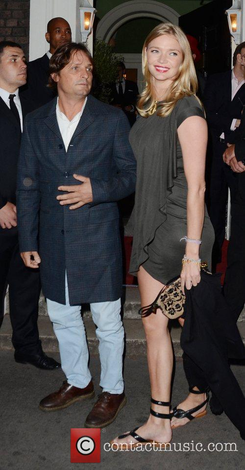 Jodie Kidd attending the private opening of OMEGA...