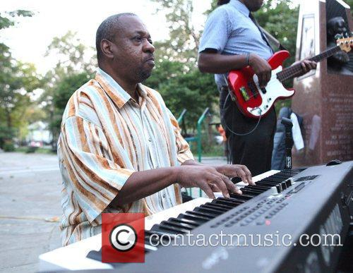 Performs in Dr. Ronald McNair Park with his...