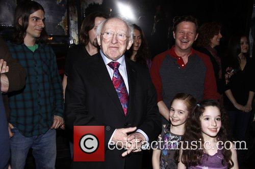 The President of Ireland, Michael D. Higgins visits...