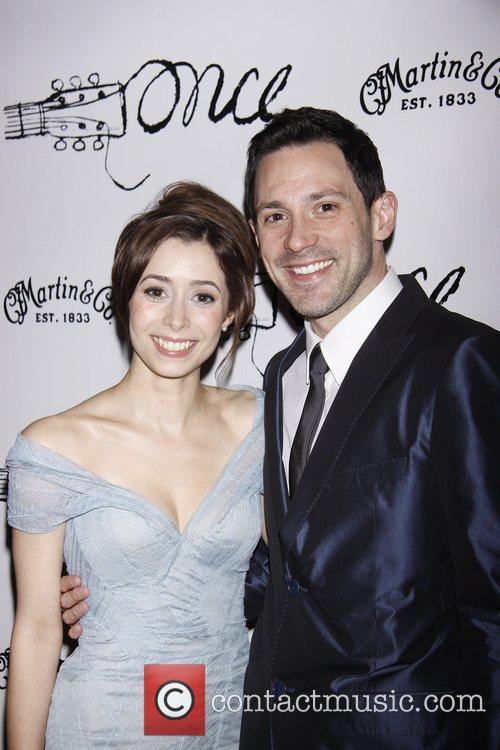 Cristin Milioti and Steve Kazee  Broadway opening...