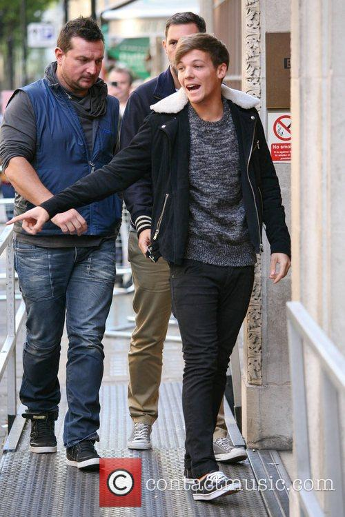 Louis Tomlinson One Direction arriving at BBC Radio...