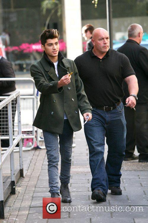 One Direction arriving at BBC Radio 1