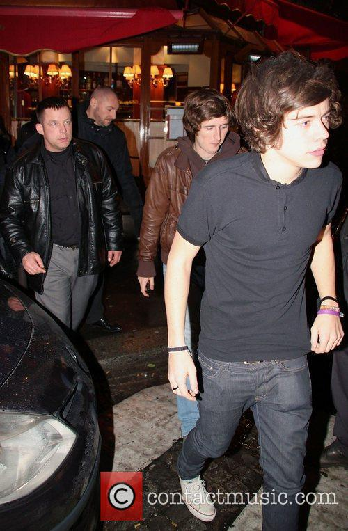Harry Styles of One Direction leaves Le Relais...