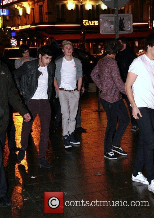 Niall Horan, Zayn Malik One Direction arrive at...