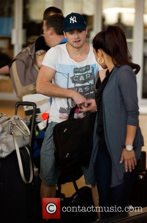 Dan Richards, , One Direction's guitarist, arriving at...