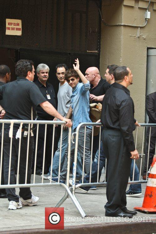 Arriving at the Beacon Theatre in the Upper...