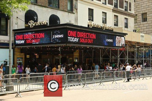 The marquee of the Beacon Theatre, where One...
