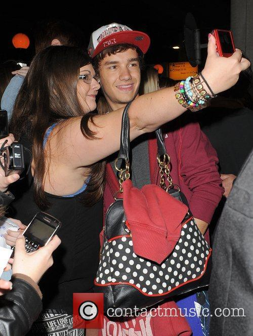 Liam Payne from boyband One Direction, arrives back...