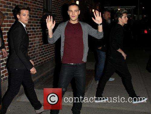 Louis Tomlinson, Liam Panye, Niall Horan and Ed Sullivan Theatre 2