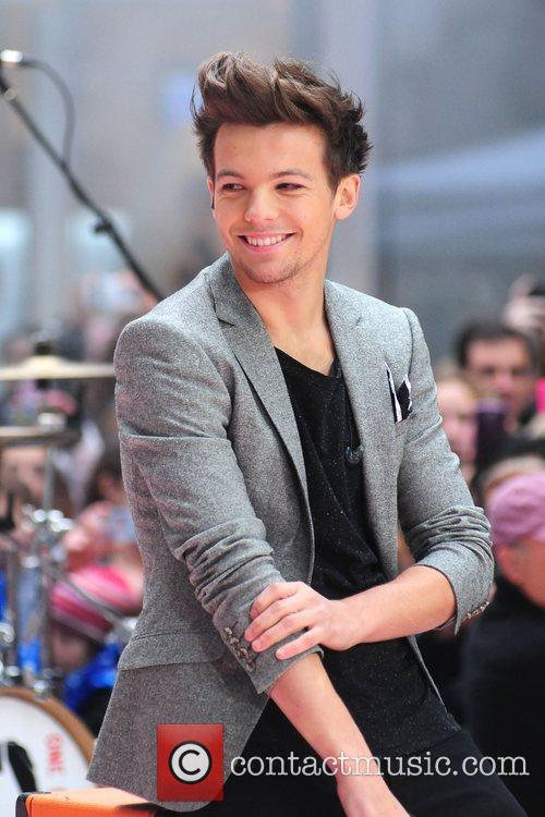 Lou Tomlinson 'One Direction' performing live on the...
