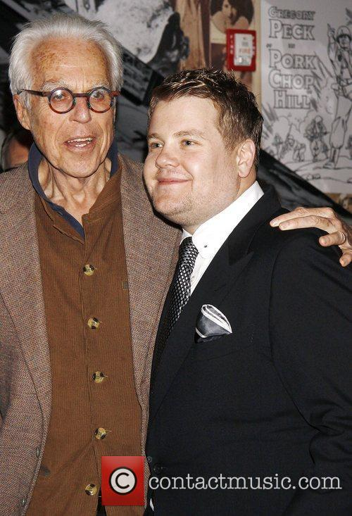 Playwright John Guare and James Corden  Broadway...