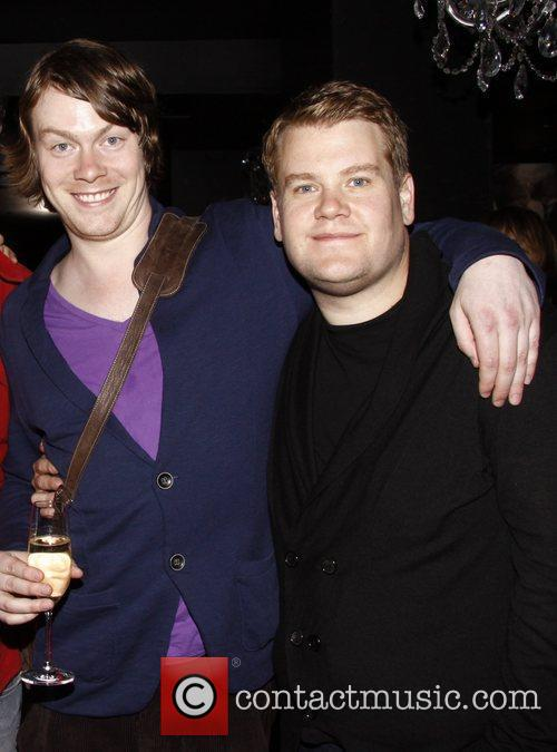 Daniel Rigby and James Corden Party celebrating the...