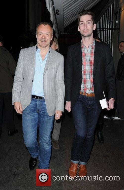 Graham Norton at the press night of 'One...