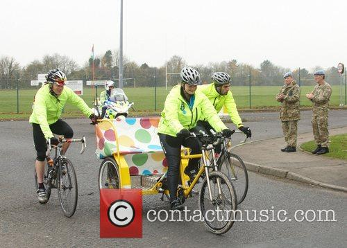 Challengers on the BBC One Show Rickshaw Challenge...
