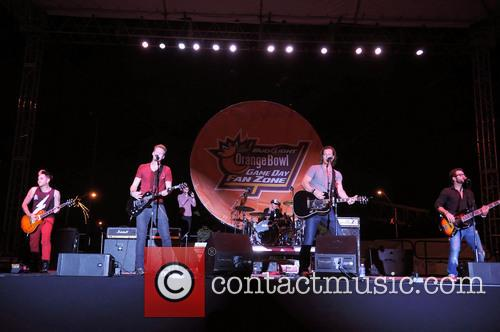 Brian Kelley; Tyler Hubbard 2013 Discover Orange Bowl...
