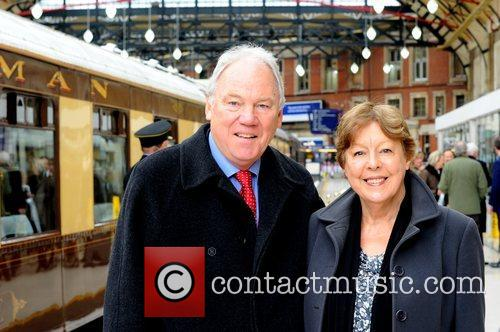 Peter Sissons & Wife  attend the launch...